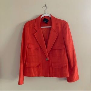 CARLISLE silk orange blazer with single button
